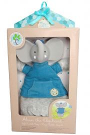 Image of Alvin the Elephant soft rattle toy.