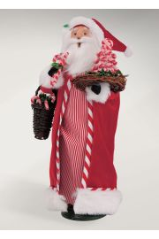 Photographic image of Candy Cane Santa by Byers' Choice Ltd.