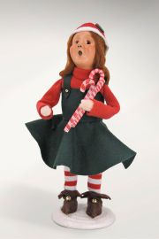 Photographic image of Mitzi Christmas Elf with Candy Canes by Byers' Choice Ltd.