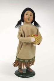 Photographic image of Native American Girl by Byers' Choice Ltd.