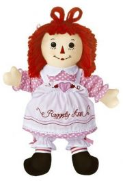 Photo of Raggedy Ann Valentine 16 inch rag doll by Aurora.