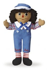 Photo of black Raggedy Andy doll.