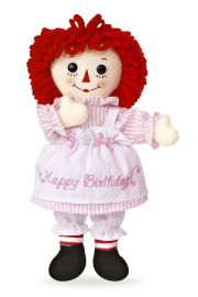 "Photo of Raggedy Ann Happy Birthday 16"" rag doll Aurora 15435."