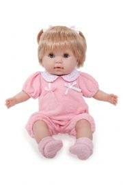 Photo of Berenguer play doll Nonis in pink outfit.