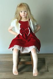 """Photo of """"So Upset"""" one-of-a-kind doll by Elisa Gallea."""