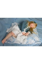 Full length photo of Sleeping Girl doll by Elisa Gallea.