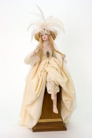 Collectible One of a Kind Porcelain soft body doll Zarah by Monika Mechling