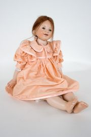 Collectible One of a Kind Wax over Porcelain doll Camille by Hildegard Gunzel