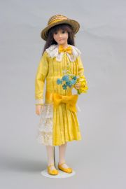 Collectible Limited Edition Wax doll Helena (yellow) by Paul Crees and Peter Coe