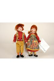 Collectible Limited Edition Porcelain doll Hansel and Gretel Set by Robert Tonner