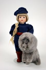 Collectible Limited Edition Porcelain doll Peter and the Wolf by Wendy Lawton