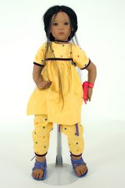 Collectible Limited Edition Vinyl soft body doll Anila by Annette Himstedt
