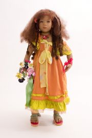 Collectible Limited Edition Vinyl soft body doll Amber by Annette Himstedt