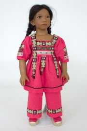 Collectible Limited Edition Vinyl soft body doll Panchita by Annette Himstedt