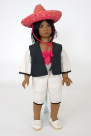 Collectible Limited Edition Vinyl soft body doll Pancho by Annette Himstedt