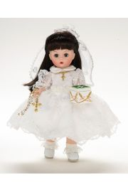 Collectible   doll First Communion Brunette by Madame Alexander