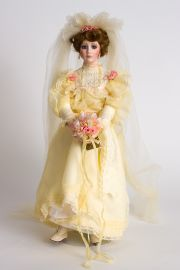 Collectible Limited Edition Porcelain soft body doll Eugenie Bride by Paulette Aprile