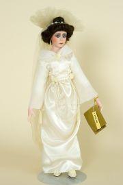 Collectible Limited Edition Porcelain soft body doll Pauline Bride by Paulette Aprile