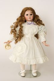 Collectible Limited Edition Porcelain soft body doll Ginger by Linda Mason