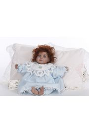 Julie - limited edition porcelain soft body collectible doll  by doll artist Sherry Stephans.