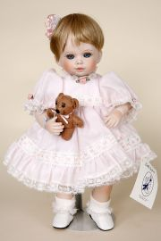 Tina & Bo - limited edition porcelain collectible doll  by doll artist Jerri McCloud.