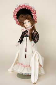 Sylvie - limited edition porcelain collectible doll  by doll artist Jerri McCloud.