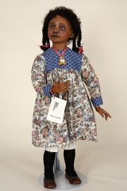 Melandie - collectible limited edition resin art doll by doll artist Peggy Ann Ridley.