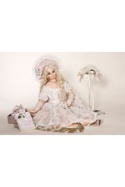 Lane - collectible limited edition porcelain soft body art doll by doll artist Sylvia Weser.