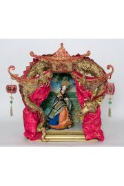 Chinese Princess Theatre - collectible one of a kind paperclay art doll by doll artist Nancy Wiley.