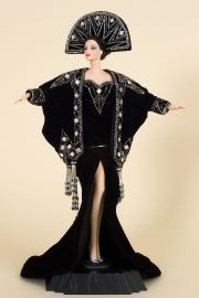 Erte II - collectible open edition porcelain fashion doll by doll artist Mattel.