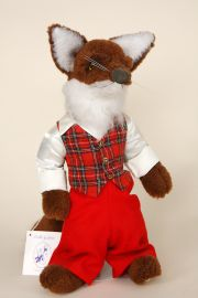 Br'er Fox - collectible limited edition plush bear or plush piece by artist Jerri McCloud.