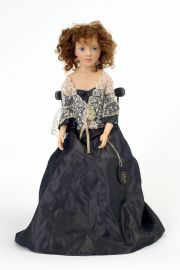 Vanessa no.1 - collectible limited edition resin art doll by doll artist Heloise.