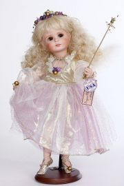 Sugar Plum Cherub - limited edition porcelain collectible doll  by doll artist Connie Walser Derek.
