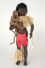 Children of the Rainforest CR2 - Sumatra (Boy) - collectible limited edition resin art doll by doll artist Pat Kolesar.