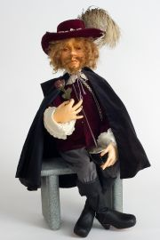 Cyrano de Bergerac - collectible artist's proof wood art doll by doll artist Hal Payne.