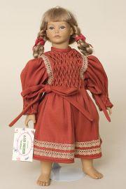 Golda - limited edition vinyl soft body collectible doll  by doll artist Heidi Ott.
