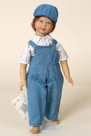 Tobyas - limited edition vinyl soft body collectible doll  by doll artist Heidi Ott.