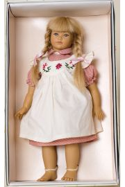 Gitte - limited edition vinyl soft body collectible doll  by doll artist Heidi Ott.