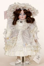 Cassandra - limited edition porcelain soft body collectible doll  by doll artist Gorham.
