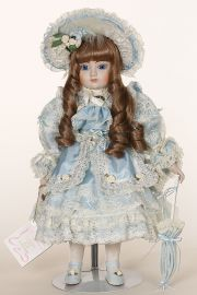 Charlotte - limited edition porcelain soft body collectible doll  by doll artist Gorham.
