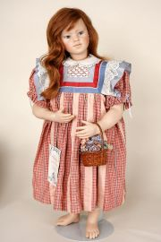 Marlene - limited edition vinyl soft body collectible doll  by doll artist Rotraut Schrott.