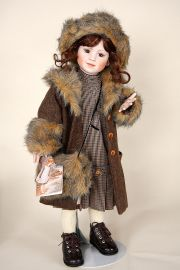 Ninotschka - limited edition porcelain collectible doll  by doll artist Rotraut Schrott.