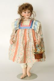 Marlene - limited edition porcelain soft body collectible doll  by doll artist Rotraut Schrott.