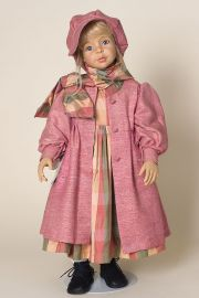 Ashley - limited edition vinyl soft body collectible doll  by doll artist Joke Grobben.