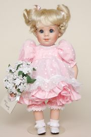 Polly - limited edition porcelain soft body collectible doll  by doll artist Elke Hutchens.