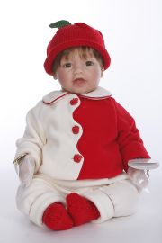 Day at the Orchard - collectible limited edition vinyl soft body play doll by doll artist Lee Middleton.
