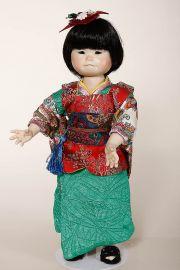 Jasmine - collectible limited edition porcelain soft body art doll by doll artist Yolanda Bello.