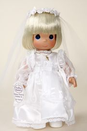 Christina Communion Doll - open edition vinyl collectible doll  by doll artist Precious Moments.