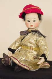 Shih Huang - collectible limited edition porcelain soft body art doll by doll artist Yolanda Bello.