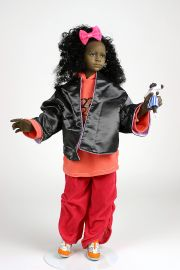 Street Kid no.20 - collectible one of a kind finished porcelain art doll by doll artist Uta Brauser.